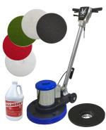 "JL Rocksheen Floor Buffer 17"" with Pad Holder"